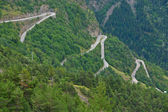 Alpe d'Huez - Curve 9-11-13 — Stock Photo