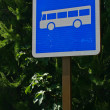 Stock Photo: Bus Traffic Sign in environment