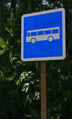 Bus Traffic Sign in environment — Stock Photo