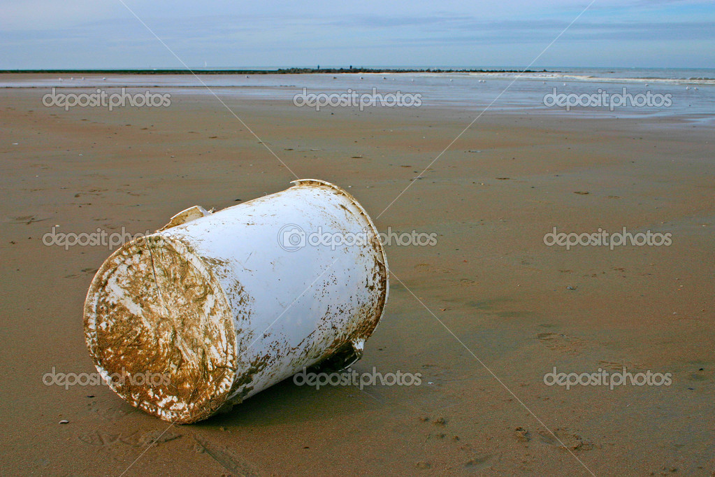 Garbage found on the beach  Stock Photo #4191696