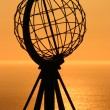 The North Cape Globe at midnight #3 — Stockfoto