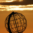 The North Cape Globe at midnight #4 — Foto Stock