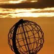 The North Cape Globe at midnight #4 — 图库照片