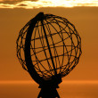 The North Cape Globe at midnight #5 — 图库照片