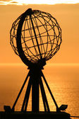 The North Cape Globe at midnight #3 — Foto Stock