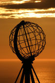 The North Cape Globe at midnight #5 — Stock Photo