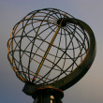 gün ışığı, North cape Küre — Stok fotoğraf