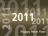 Happy New Year card - 2011 - Brown — Stock Photo