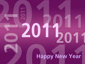 Happy New Year card - 2011 - Pink — Stock Photo