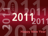 Happy New Year card - 2011 - Red — Stock Photo