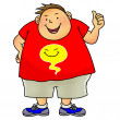 Royalty-Free Stock Photo: Overweight boy