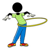 Exercise with hula hoop — Stock Photo