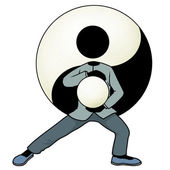 Tai chi yin and yang — Stock Photo