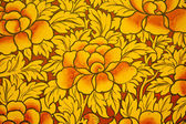 Pattern Thai art on temple walls. — Stock Photo