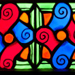 Stock Photo: Colorful colorful glass in church.
