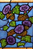 Colorful colorful glass in the church. — Stock Photo