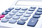 Calculator on a white background. — Stock Photo