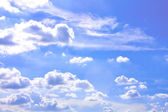Beautiful blue clear clouds. — Stock Photo