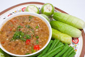 Thai food. Curry cooked vegetables. — Stock Photo