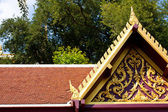 Thai temple art roof. — Stock Photo