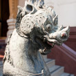 Lion head statue. — Stock Photo