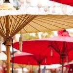 Bamboo shade to avoid heat. — Stock Photo