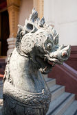Lion head statue. — Foto Stock