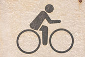 Bicycle symbol — Stock Photo
