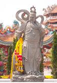 Pedra esculpida kuan yu. — Foto Stock