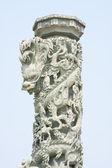Monumenten gesneden dragon — Stockfoto