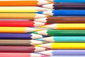 Verscheidenheid van pastel kleuren gerangschikt in een rij — Stockfoto