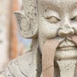 Chinese carved stone warriors. — Stock Photo