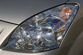 Modern car headlight — Stock Photo