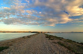 Sunset on Lake — Stock Photo