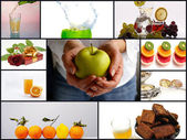 Gourmet collage — Stock Photo