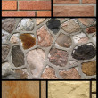 Stock Photo: Collage of stone brick
