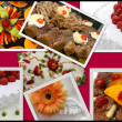 Colorful fruit collage of nine photos — Stock Photo #4004282