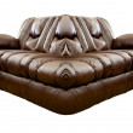 Brown Leather Sofa — Stock Photo