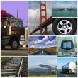 Transport themed collage - Stock Photo