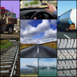 Stock Photo: Transport themed collage
