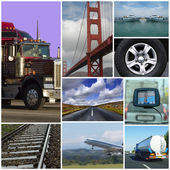Transport themed collage — Stock Photo