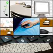 Collage of technological themed — Stock Photo
