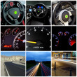 Collage Speed highway — Stock Photo