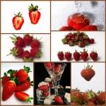 Strawberries collage — Stock Photo #4143035