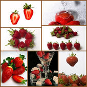 Strawberries collage — Stock Photo