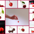 Collage of cherries — Stock Photo
