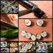 Sushi collage — Stock Photo #4183900