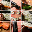 Sushi collage — Stock Photo #4183914