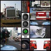 Collage Speed highway — Stock Photo