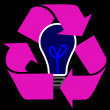 图库照片: Ecological lightbulb with background
